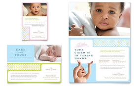 Infant Care & Babysitting - Flyer & Ad
