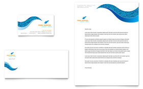 Swimming Pool Cleaning Service - Business Card & Letterhead