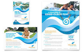 Swimming Pool Cleaning Service - Leaflet Template