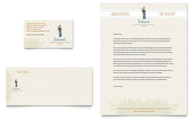 Landscape & Garden Store - Business Card & Letterhead Template
