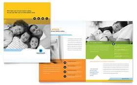 Home Security Systems - Business Marketing Brochure Template