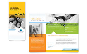 Home Security Systems - Tri Fold Brochure Template
