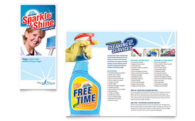 House Cleaning & Housekeeping - Print Design Brochure Template