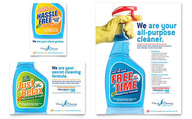 House Cleaning & Housekeeping - Flyer & Ad