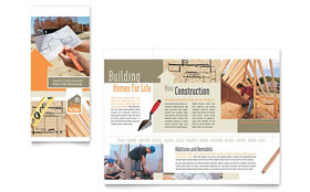 Home Building Carpentry - Microsoft Word Brochure