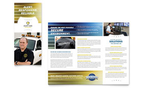 Security Guard - Desktop Publishing Tri Fold Brochure Template