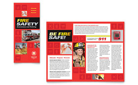 Fire Safety - Apple iWork Pages Brochure Template