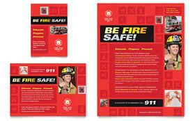 Fire Safety - Flyer & Ad