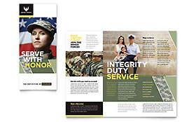 Military - Brochure Template
