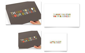 Thank You for Your Business - Note Card Template