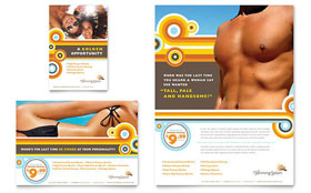 Tanning Salon - Leaflet Template