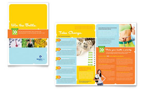 Weight Loss Clinic - Apple iWork Pages Brochure Template