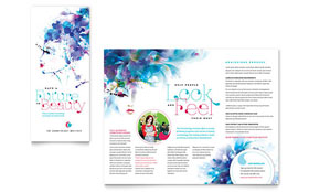 Cosmetology - CorelDRAW Brochure Template
