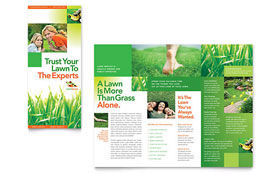 Lawn Maintenance - Apple iWork Pages Tri Fold Brochure