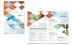 Window Cleaning & Pressure Washing - Microsoft Word Brochure Template