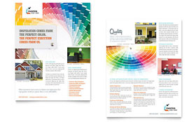 House Painting Contractor - Datasheet Template