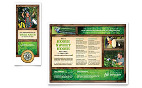Tree Service - Microsoft Publisher Tri Fold Brochure Template