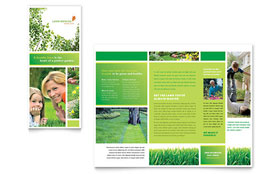 Lawn Mowing Service - Print Design Brochure Template