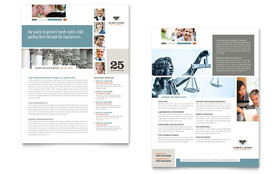 Family Law Attorneys - Datasheet Template