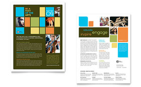 Arts Council & Education - Sales Sheet Template