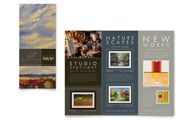 Art Gallery & Artist - Brochure Template