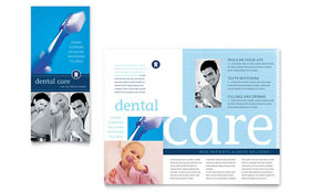Dentist Office - Adobe InDesign Brochure