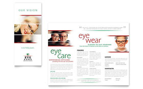 Optometrist & Optician - Adobe InDesign Brochure