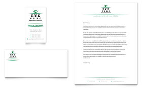 Optometrist & Optician - Business Card & Letterhead