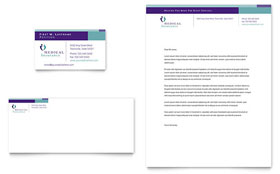 Medical Insurance Company - Business Card & Letterhead Template