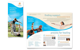 Physical Therapist - Graphic Design Brochure Template