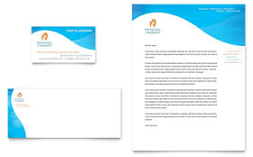 Physical Therapist - Business Card & Letterhead