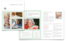 Senior Care Services - Microsoft Publisher Brochure Template