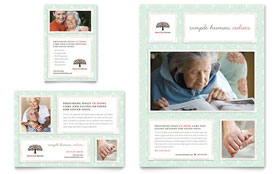 Senior Care Services - Flyer & Ad Template