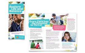 Adolescent Counseling - Tri Fold Brochure Template