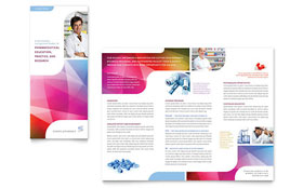 Pharmacy School - Apple iWork Pages Tri Fold Brochure Template