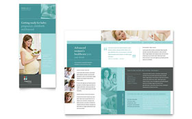 Pregnancy Clinic - Microsoft Word Tri Fold Brochure Template