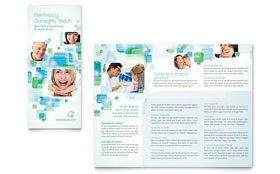 Orthodontist - Microsoft Word Tri Fold Brochure Template