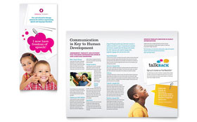 Speech Therapy Education - Desktop Publishing Tri Fold Brochure