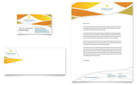 Assisted Living - Business Card & Letterhead Template