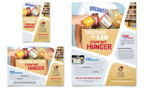 Food Bank Volunteer - Flyer & Ad