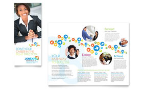 Job Expo & Career Fair - Tri Fold Brochure
