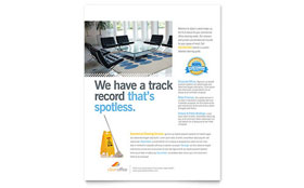 Janitorial & Office Cleaning - Leaflet