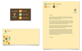 Business Services - Business Card & Letterhead Template