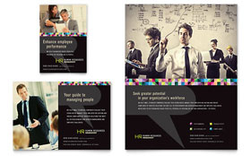 Human Resource Management - Print Ad Template