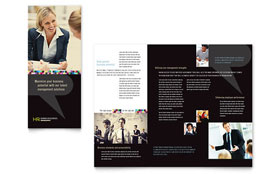 Human Resource Management - Tri Fold Brochure Template