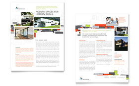 Architectural Design - Sales Sheet Template