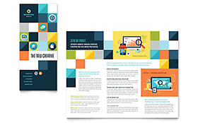Advertising Company - CorelDRAW Tri Fold Brochure Template