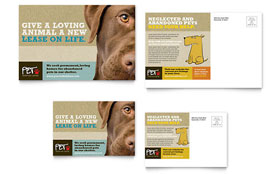Animal Shelter & Pet Adoption - Postcard Template