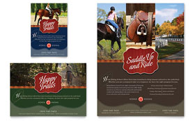 Horse Riding Stables & Camp - Print Ad Template