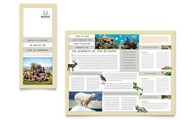 Nature & Wildlife Conservation - Business Marketing Tri Fold Brochure Template